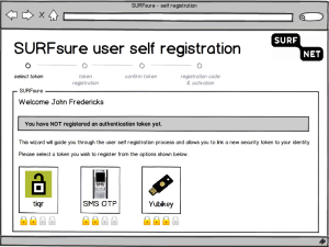 SURFsure - self-service mockup second factor