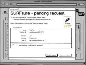 SURFsure - user manager mockup - check second factor and ID document